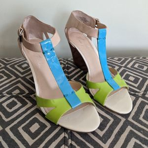 Marc Fisher Neon Wedges